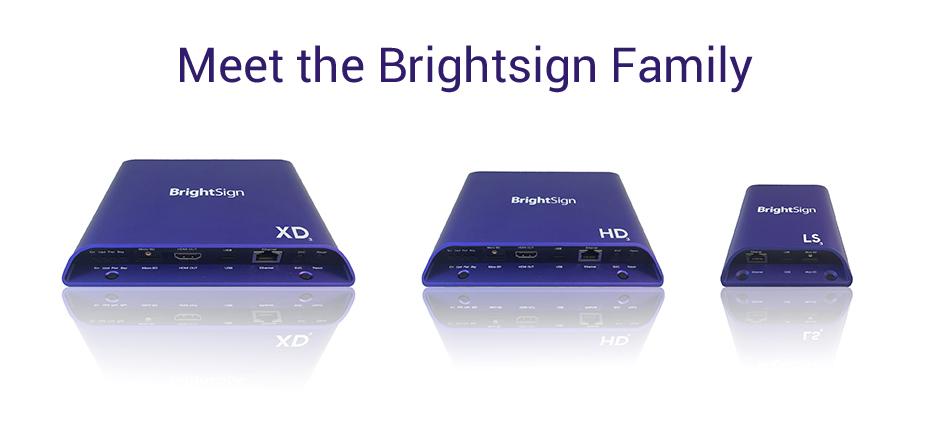 Brightsign Digital Signage Family